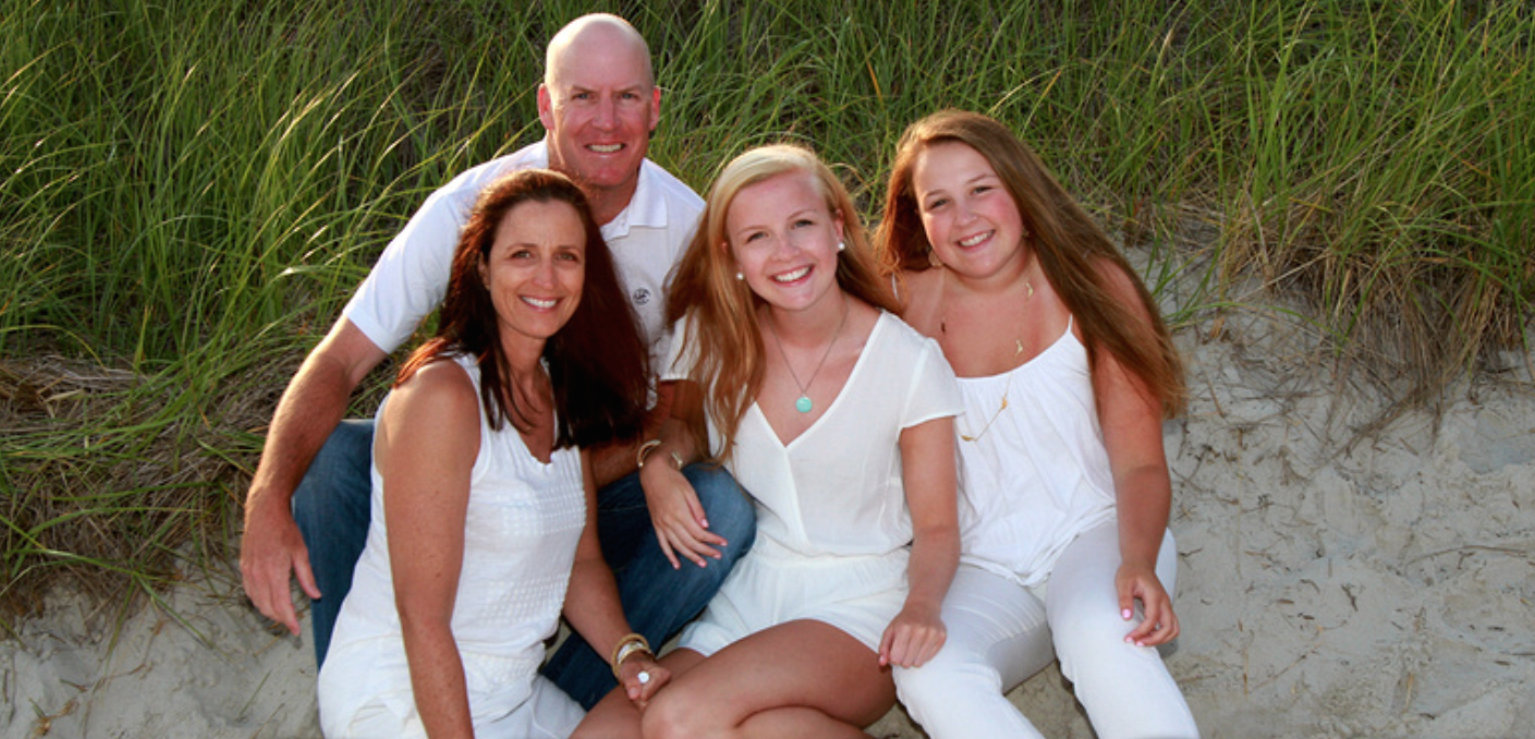 Michael McCarthy, his wife, Kristen, and his daughters Keely and Emily